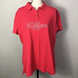 Tommy Hilfiger bright pink polo